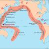 «Огненное кольцо» вулканов и землетрясений