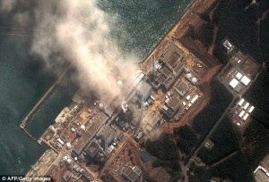 Meltdown': The Fukushima Daiichi nuclear plant moments after it was rocked by a second explosion today. Officials later admitted that fuel rods are 'highly likely' to be melting in three damaged reactors  Read more: http://www.dailymail.co.uk/news/article-1365781/Japan-earthquake-tsunami-All-3-Fukushima-nuclear-plant-reactors-meltdown.