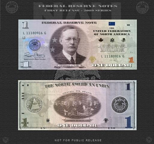 Банкноты Северо Американского Союза или Амеро