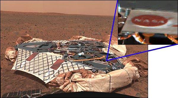 Первый снимок марсохода Spirit