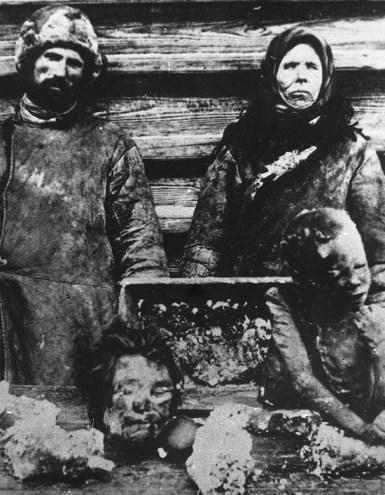Людоеды с Волги, съевшие собственных детей 1921 год.
