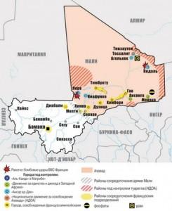 Рис. 10 Карта Мали