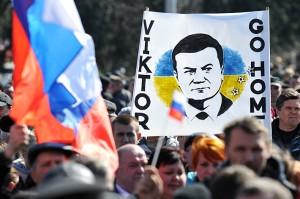 митинг в поддержку януковича 22-23 марта, донецк