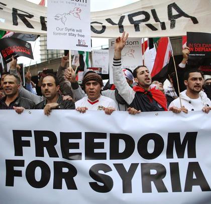 волнения в сирии