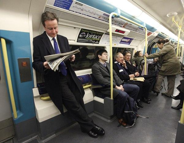 премьер министр Британии в метро