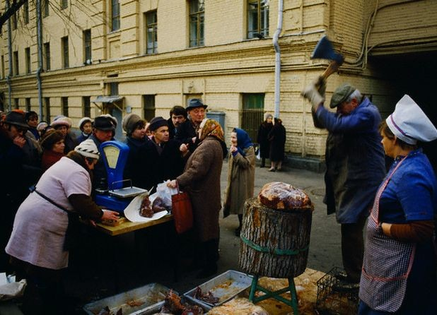 Meat Vendor on Moscow Street